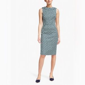 Boden Boat Neck Pencil Martha Dress in Heron Print